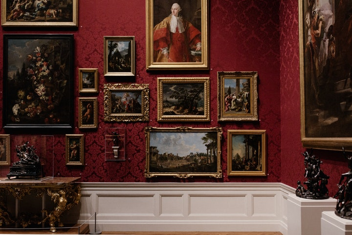A Room With Paintings